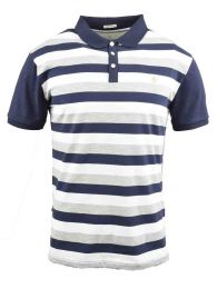 CHOMBA M/CORTA PENGUIN SS STRIPE SOLID BACK POLO