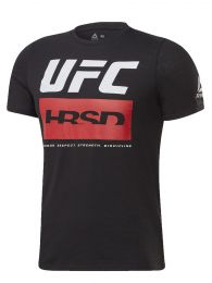 REMERA M/CORTA REEBOK UFC FG FIGHT WEEK T NEGRO